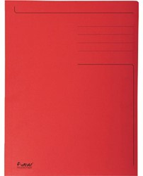 Dossiermap Exacompta forever 300gr 3kleppen rood