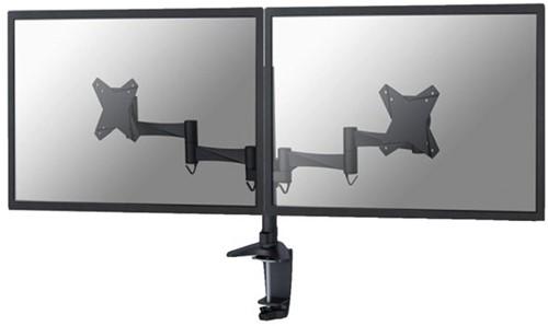 """Monitorarm Neomounts D1330D 2x10-27"""" zwart"""