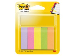 Indextabs 3M Post-it 670/5 papier ultra 5 kleuren