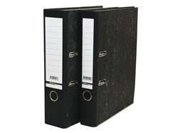 Ordner budget A4 80mm karton gewolkt