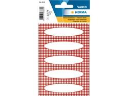 Etiket Herma 3639 vario keuken ruit rood