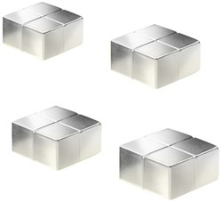 Glasbordmagneet Sigel Artverum 20x20x10mm nikkel 4stuks