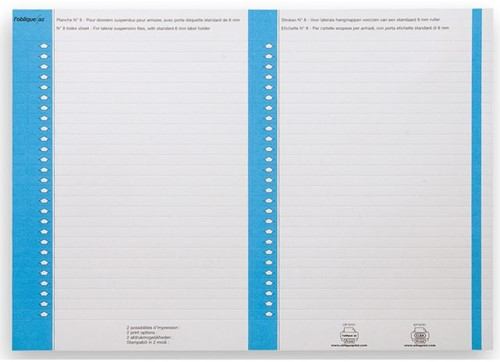 Ruiterstrook Elba Nr 8 138x60mm lateraal blauw