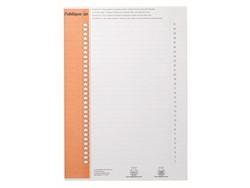 Ruiterstrook Elba Nr 0 verticaal oranje