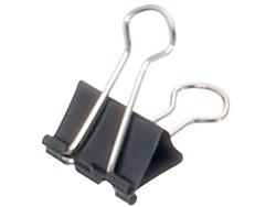 Papierklem Maul 215 Foldback 19mm capaciteit 7mm zwart