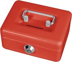 Geldkist Maul met gleuf 125x95x60mm rood