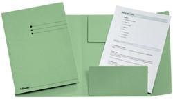 Dossiermap Esselte 275gr 3kleppen groen 1 STUK