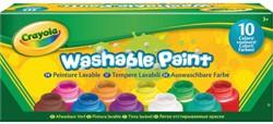 Verf Crayola afwasbaar 59ml 10 kleuren assorti