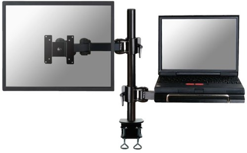 "Laptoparm Neomounts D960 10-27"" met klem zwart"