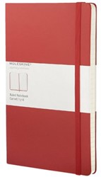 Notitieboek Moleskine lijn large 130x210mm rood