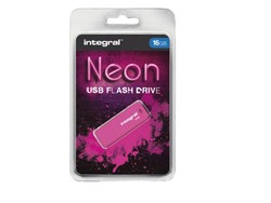 USB-stick 2.0 Integral 16Gb neon roze