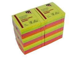 Memoblaadjes Quantore 75x75mm neon kleuren assorti