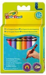 Waskrijt Crayola minikids driehoekig 16 stuks assorti