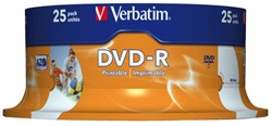 DVD-R Verbatim 4.7GB 16x printable spindel 25stuks