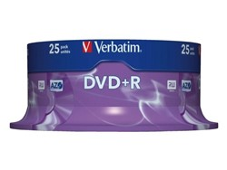 DVD+R Verbatim 4,7GB 16X spindel 25stuks