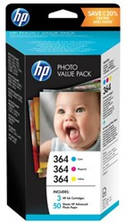 Inkcartridge HP 364 T9D88EE 50vel 10x15 + 3 cartridges