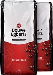 Koffie Douwe Egberts bonen fresh melange Rood 3000gr
