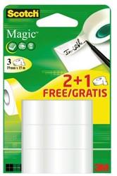 Onzichtbaar plakband Scotch Magic 19mmx15m 2+1 gratis