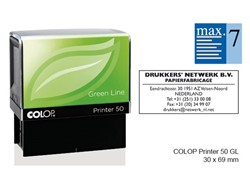 Tekststempel Colop 50 green line+bon 7regels 69x30mm