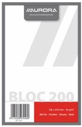 Kladblok 135x210mm 200vel blanco