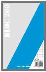 Kladblok 210X135mm ruit 5X5mm 200vel