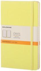 Notitieboek Moleskine large 210X130mm gelinieerd geel