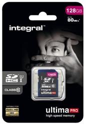 Geheugenkaart Integral SDXC class10 128GB
