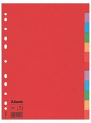Tabbladen Esselte A4 11R karton 12-delig zonder voorblad