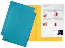 Inlegmap Esselte karton blauw