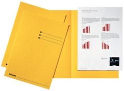 Inlegmap Esselte karton geel