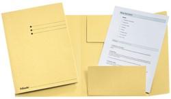 Dossiermap Esselte 275gr 3kleppen geel 1 STUK