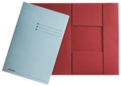 Dossiermap Esselte 275gr 3kleppen rood 1 STUK