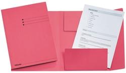 Dossiermap Esselte 275gr 3kleppen roze 1 STUK