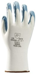 Handschoen grip Nitril foam wit/grijs medium
