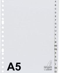 Tabbladen Kangaro A5 17-gaats G520AZM alfabet grijs PP