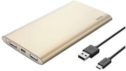 Powerpack Hama 8000mAh Premium goudkleurig