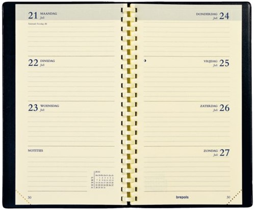 Agendavulling 2021 Brepols Interplan spiraal 7dag/2pag NL