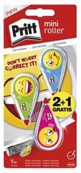 Correctieroller Pritt Mini Emoji 4.2mm blister 2+1 gratis