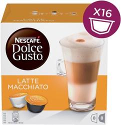 Koffie Dolce Gusto Latte Machiato 16 cups voor 8 kopjes