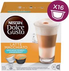 Koffie Dolce Gusto Latte Machiato Unsweetened voor 8 kopjes