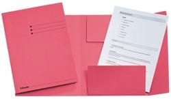 Dossiermap Esselte manilla 3klep folio roze