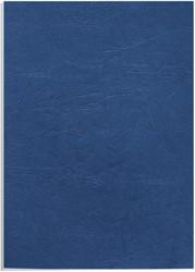 Voorblad Fellowes A4 lederlook royal blauw 100stuks