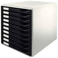 Ladenblok Leitz 5281 10 laden zwart