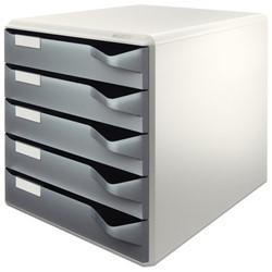 Ladenblok Leitz 5280 5 laden grijs