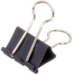 Papierklem Maul 213 Foldback 25mm capaciteit 9mm zwart