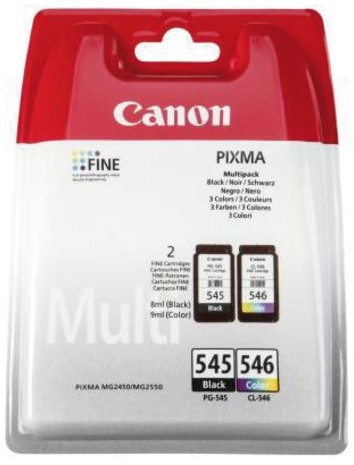 Inkcartridge Canon PG-545 + CL-546 zwart + kleur