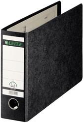 Ordner Leitz 1074 A4 dwars 77mm karton gewolkt zwart