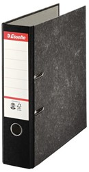 Ordner Esselte A4 75mm karton gewolkt zwart