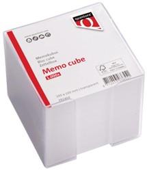 Memokubus Quantore 10x10x10cm transparant met 1000vel