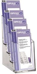 Folderhouder OPUS 2 4vaks 1/3 A4 acryl
